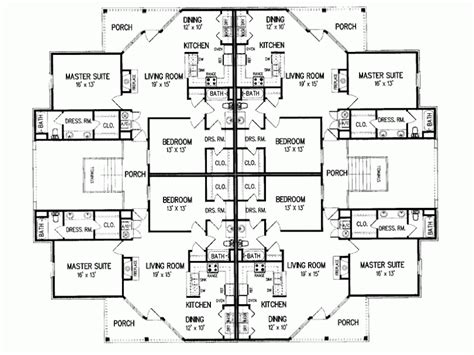 multiplex housing plans small eplans new american house plan multiplex design with