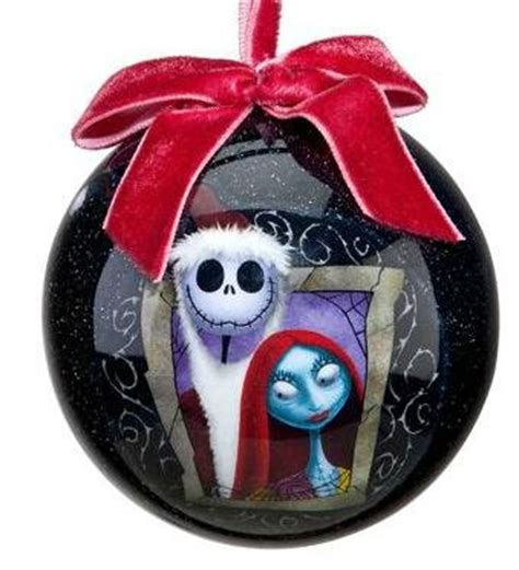 jack and sally christmas ornaments skellington and sally decoupage ornament 2011 from our collection disney