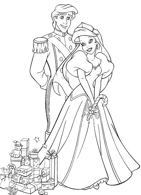 printable disney wedding coloring pages princess and prince married coloring pages