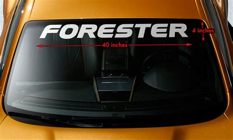 forester decal supdec subaru