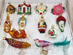 Bridal tree 12 glass ornaments boxed wedding set old world christmas
