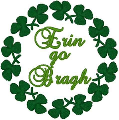 New Home Design Software Free erin go bragh with shamrocks embroidery design