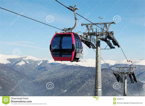 cable cabin cable cabin stock image image of post transportation
