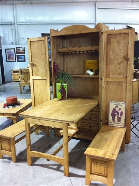 fold out kitchen table cowboy armoire fold out table benches furniture diy
