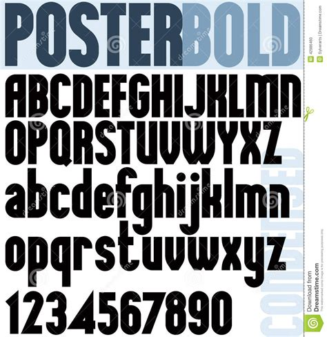 printable fonts for posters poster bold classic style font stock vector image 42986460