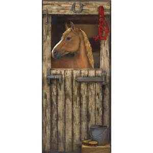 Horse Wall Mural murals gt small gt house in stall accent mural