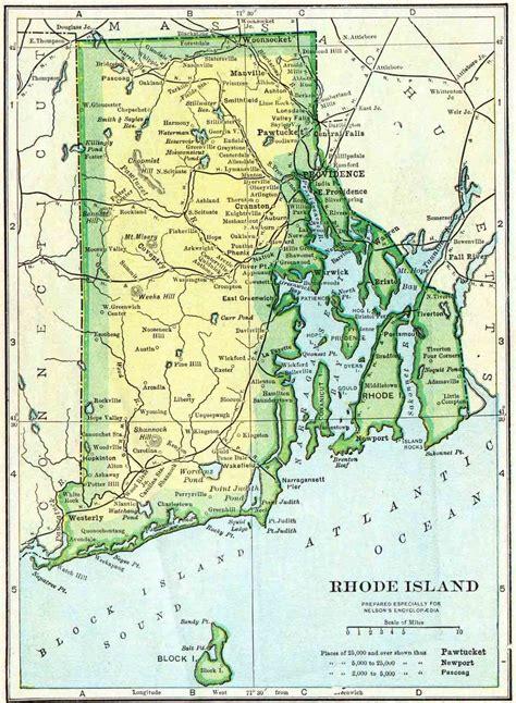 rhode island on map 1910 rhode island census map