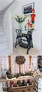 5 ideas to decorate with sewing machine stands