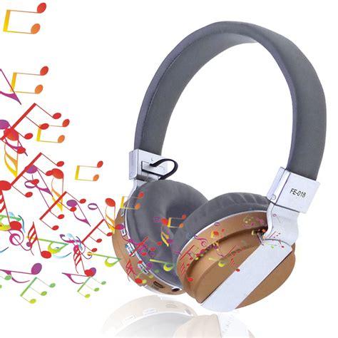 Headset Bluetooth Mega Bass fe 018 bluetooth 4 0 mega bass stereophonic headphone headset subwoofer with mic metallic color