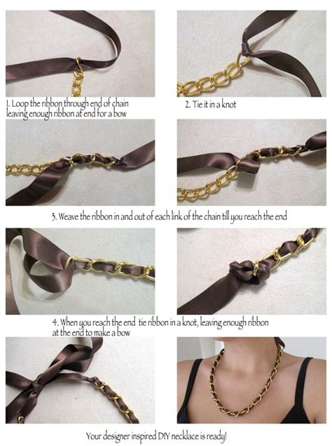 diy necklace jewelry tutorial craft ideas6