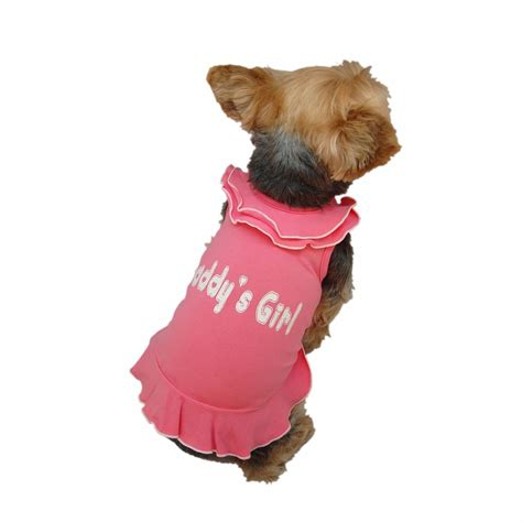 ebay puppies pink ruffle daddys t shirt dress for small dogs puppies cats animal clothes ebay