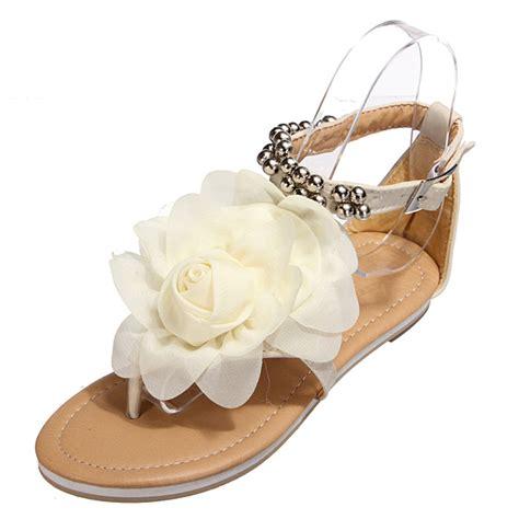 flower t sandal flower flats t straps sandals alex nld