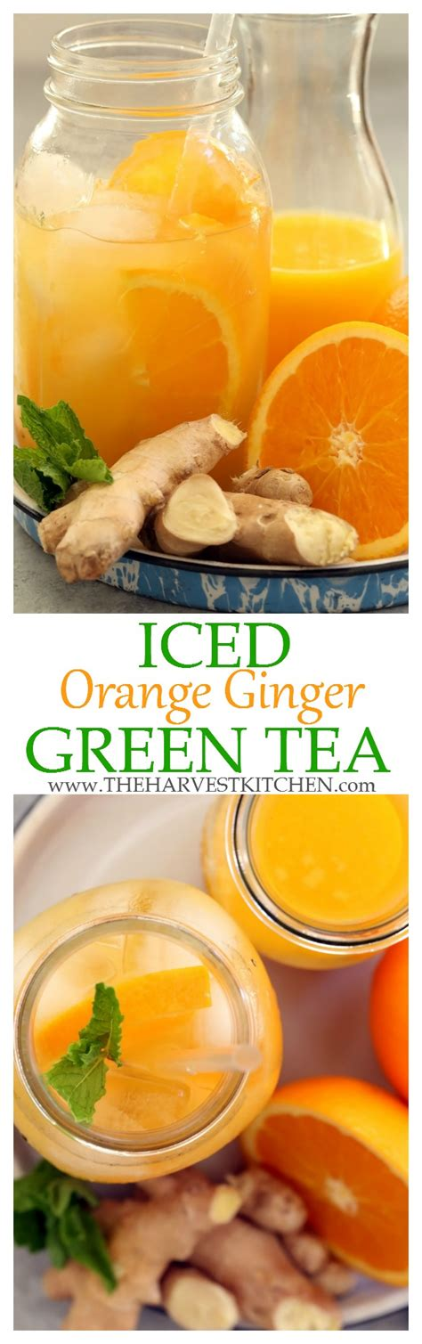 Detox Tea And Blindness by Iced Orange Green Tea The Harvest Kitchen