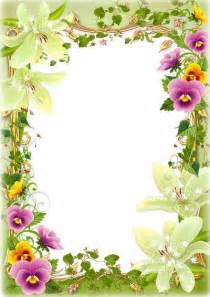 Flower Frame Template by Flower Photoshop Frame Free Psd Template Free