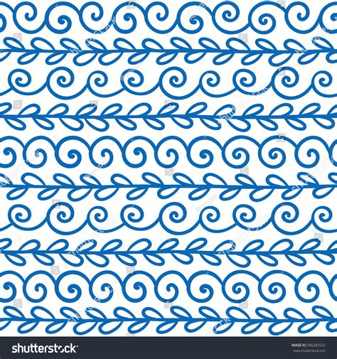 patterns english to greek vector wave meander decorative elements set stock vector