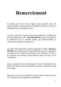 Exemple De Lettre De Remerciement Pour Mémoire Aide Modele Remerciement