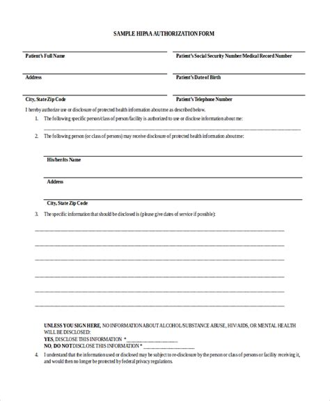 uncategorized free hipaa forms