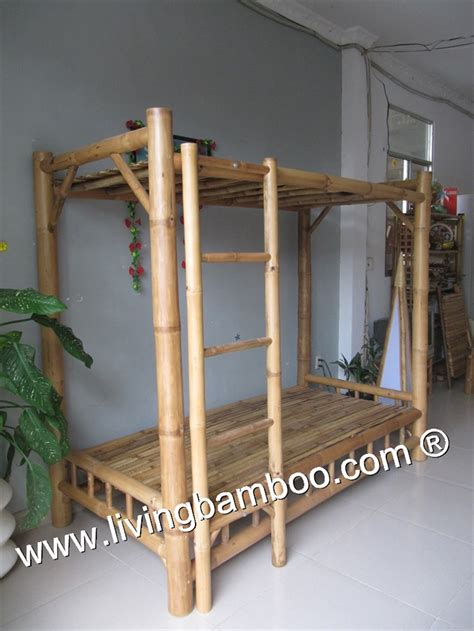 Bamboo Bunk Beds with Bamboo Bed