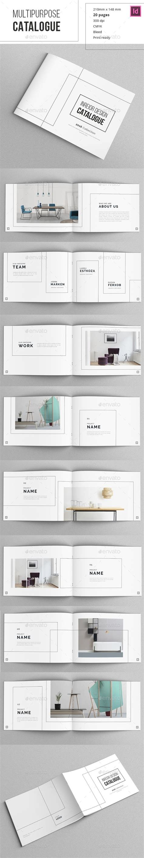 Indesign Catalogue Template by Minimal Indesign Catalogue Editorial Design Brochures