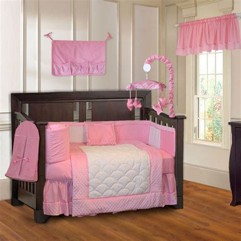 baby bedding for girls babyfad minky pink 10 piece girls baby crib bedding set