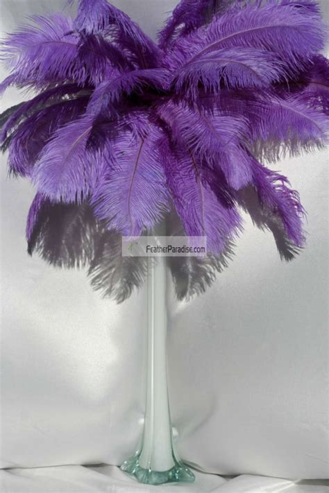 wholesale feathers for centerpieces light purple ostrich feather centerpieces 6 sets wholesale bulk discount cheap