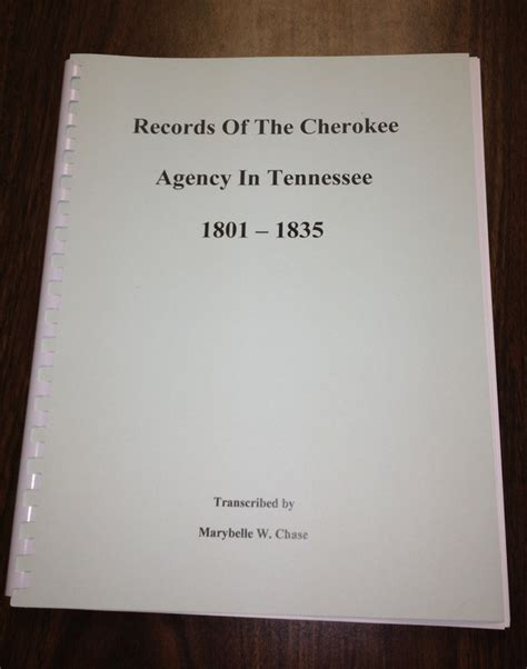 Records In Tennessee Records Of The Agency In Tennessee 1801 1835