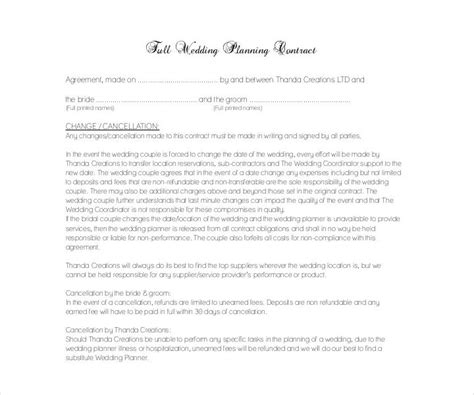 Wedding Cancellation Letter To Vendor 13 wedding contract templates free pdf doc format