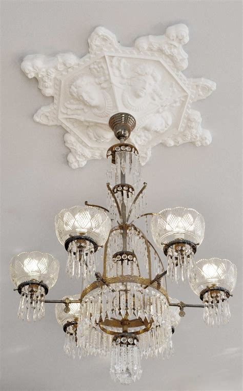 What Size Ceiling Medallion For Chandelier Vintage Hardware Lighting Recreated Faces Flowers Plaster Ceiling