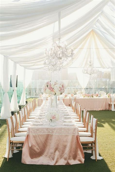 Wedding Reception Tent Blush And White Tented Wedding Reception Tent