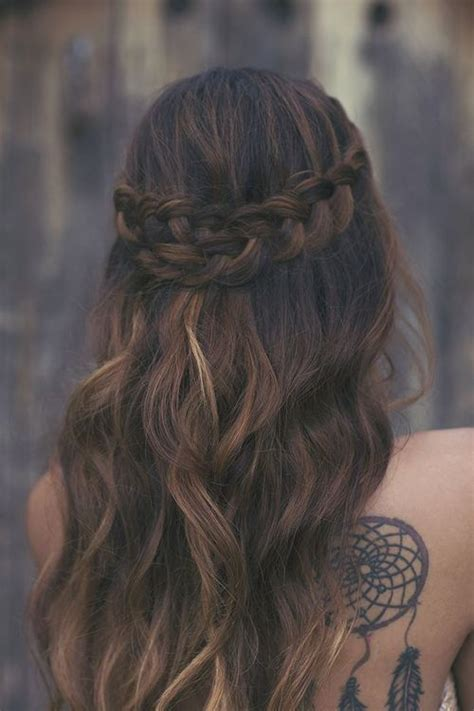 Pictures Of Blue Hair Braided Into Brown Hair | brown curly braided hair long hair hair pinterest