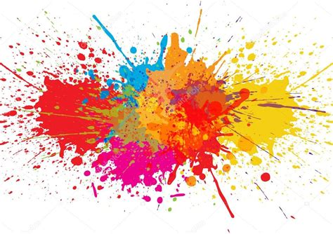 color splatter vector splatter color background illustration vector