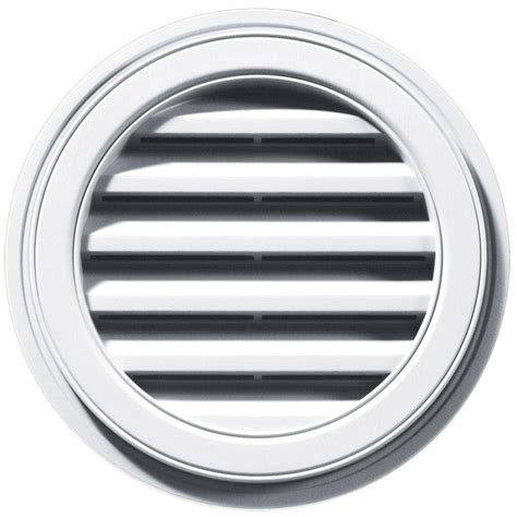 Home Depot Christmas Lawn Decorations by Builders Edge 18 In Round Gable Vent In White
