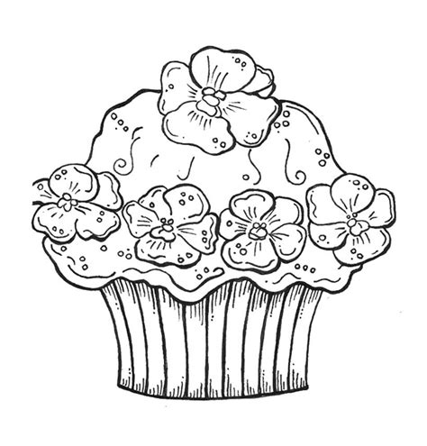 coloring pages for cupcakes birthday cupcake coloring pages photo and pictures for