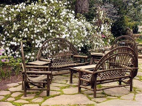 bent willow patio furniture photo