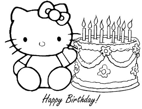 Hello Birthday Coloring Pages free printable happy birthday coloring pages for