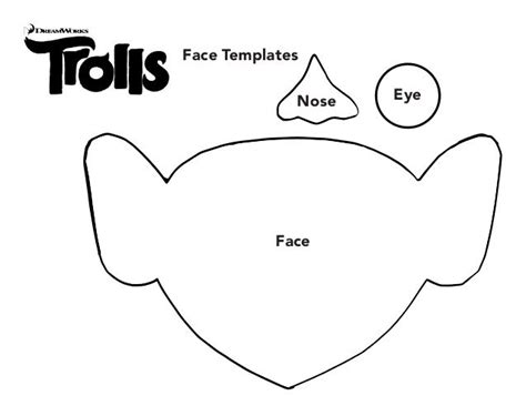 poppy cut out template poppy troll template 1000 images about trolls