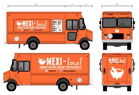 food truck brand design branding mexi local food truck on behance