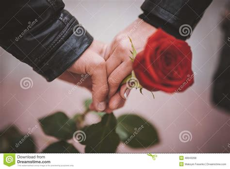 Cauple Rossa of holding stock photo image 48943268