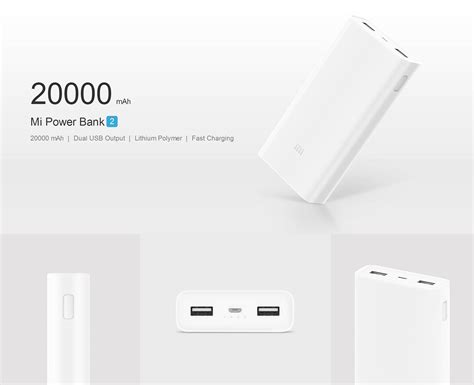 New Arrival Xiaomi Mi 2 Power Bank 20000 Mah Versi 2 Fast Charging xiaomi mi power bank 2nd 20000mah