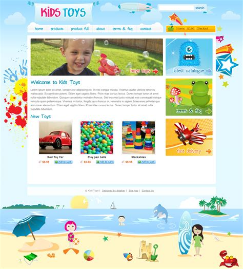 website templates for children s books kids toys 9 page html site by dtbaker themeforest