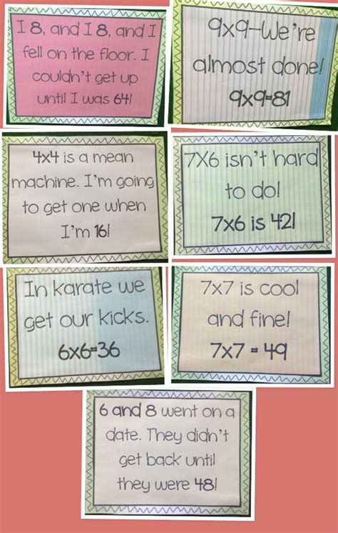 Rhymes With Table by 1000 Ideas About Multiplication Songs On