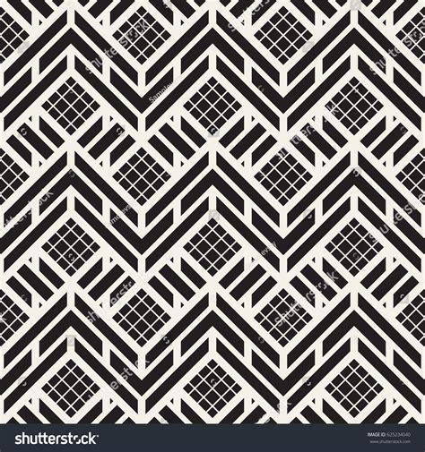 repeating pattern en français vector seamless black white trendy pattern 스톡 벡터 625234040
