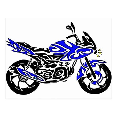 tattoo tribal motorcycle tribal tattoo motorcycle postcard zazzle