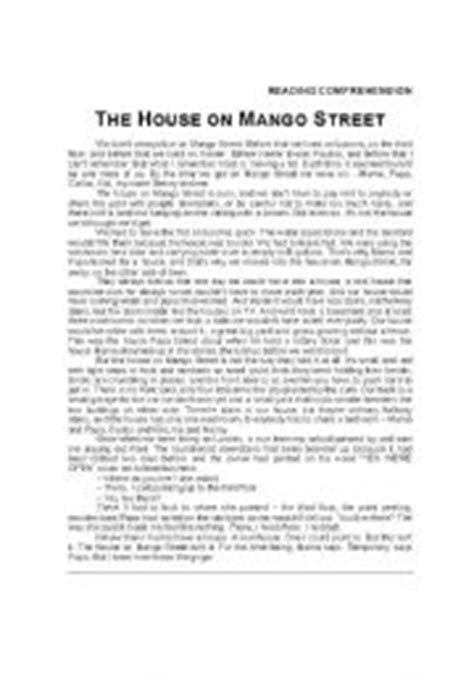 printable the house on mango street english worksheets the house on mango street