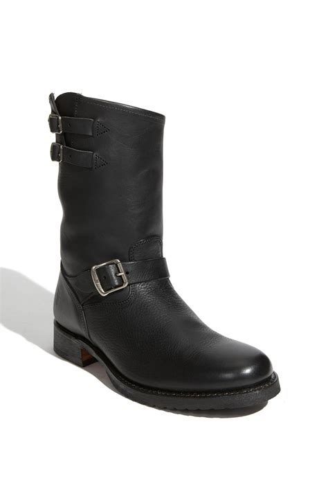 frye rand engineer boot in black for lyst