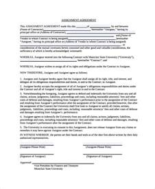 sample assignment of contract 6 free documents download