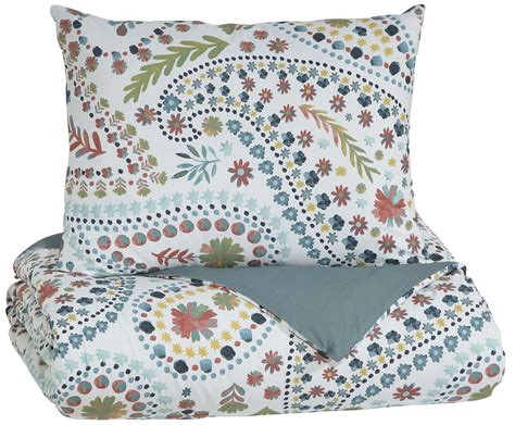 orange twin bedding danniell aqua and orange twin comforter set q228001t ashley