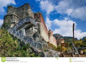 Interior Designer Homes Rovine Della Fortezza Di Poenari Romania Immagine Stock