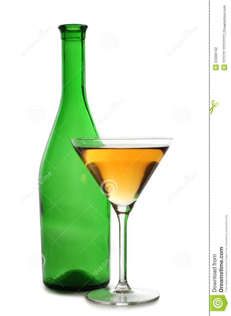 blue martini bottle martini glasses on bottle stock photography image 23306142
