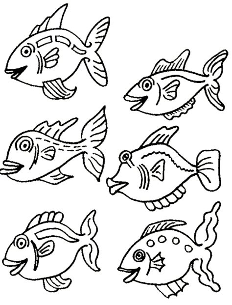 multiple fish coloring page natchitoches national fish hatchery